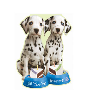 Party Pups Invitations- 8ct