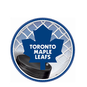 Toronto Maple Leafs 7 Inch Plates- 8ct