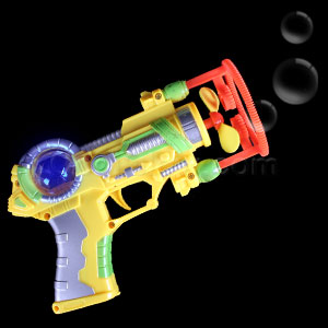 LED Super Bubble Gun - Yellow