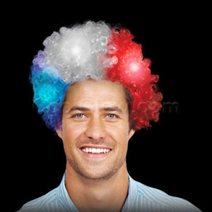 LED Afro Wig - Patriotic