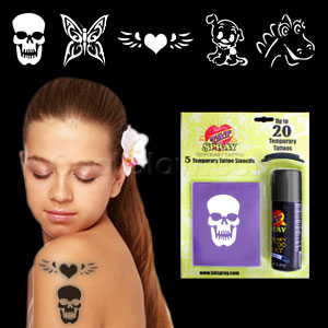 Temporary Tattoo Kit - Black
