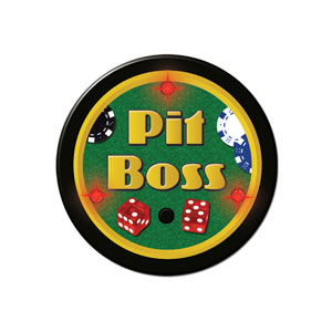 Flashing Pit Boss Button- 2in