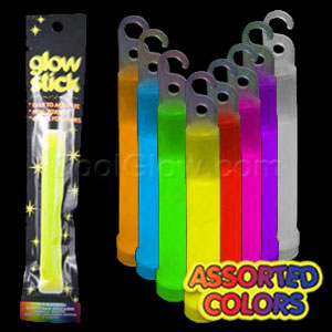 6 Inch Retail Packaged Glow Stick - Assorted