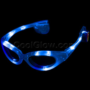 LED Sunglasses - Blue
