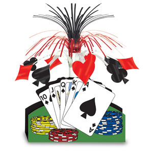 Playing Card Centerpiece- 13in