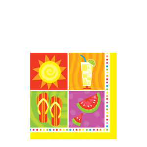 Summer Fun Beverage Napkins
