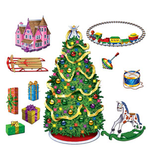 Tree and Gift Props - 11ct