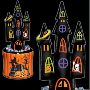 Inflatable Haunted House and Ring Toss Game- 64in