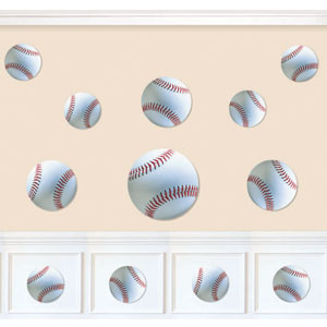 Baseball Assorted Cutouts- 12ct