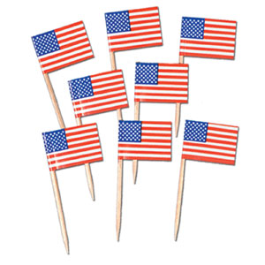 USA Flag Picks - 50ct