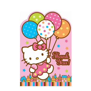 Hello Kitty Thank You Cards- 8ct