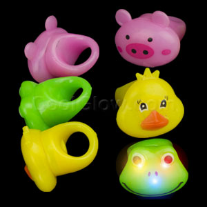 LED Jelly Animal Rings - Assorted