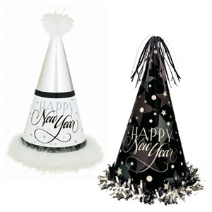 Enchanted Evening Glitter Party Hats- 13 Inch 2ct