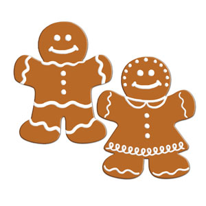Gingerbread Cutouts - 2ct