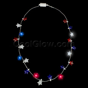LED Light Up Stars Necklace
