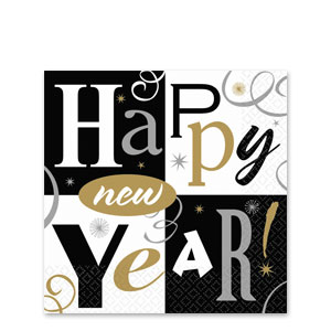 New Years Block Party Plastic Table Cover- 102 Inch