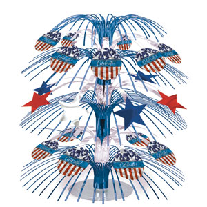 Star Spangled Banner Prismatic Centerpiece - 18in