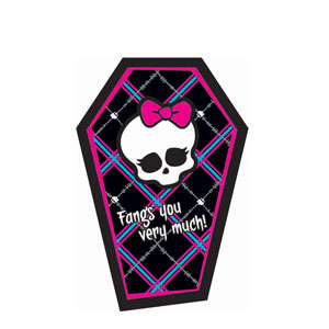 Monster High Thank You Cards- 8ct