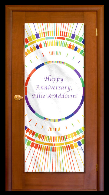 Rainbow Circles - Custom Door Banner
