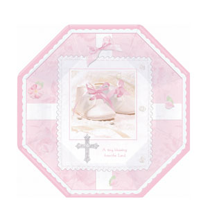 Tiny Blessing Pink Octagonal 10 Inch Plates- 8ct