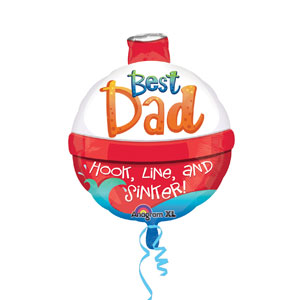 Best Dad Hook Line Sinker Balloon- 18in