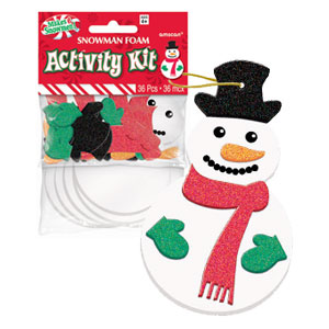 Glitter Foam Snowman Activity Kit- 42pc
