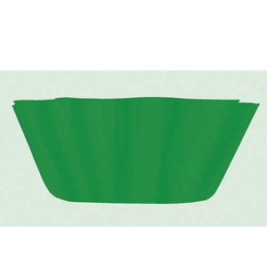 Green Fluted Bowl-8 inch