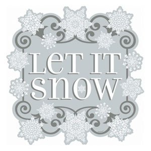 Let It Snow Cutout- 15 Inch
