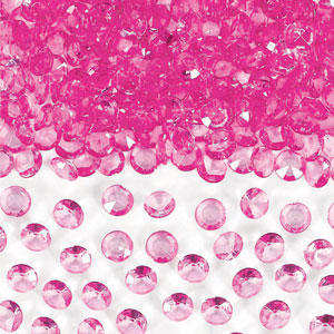 Bright Pink Confetti Gems- 1oz