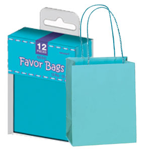 Mini Paper Favor Bags - Blue