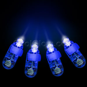 LED Finger Lights - Blue 4ct