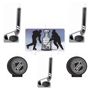 NHL Molded Cake Candle Set- 6pc