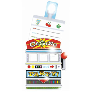 Slot Machine Invitations - 8ct