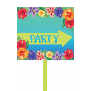 Hibiscus Heat Yard Sign- 15in