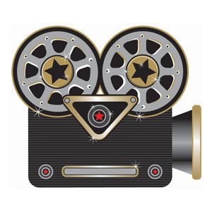 Hollywood Projector Cutout- 1ct
