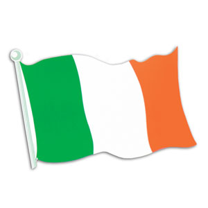 Irish Flag Cutout- 18in