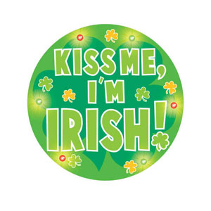 Kiss Me I'm Irish Flashing Button