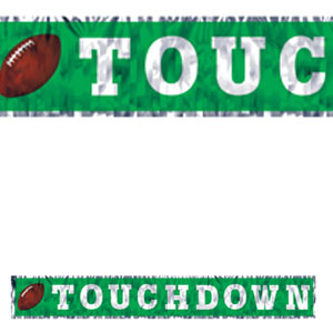 Metallic Touchdown Fringe Banner- 5ft