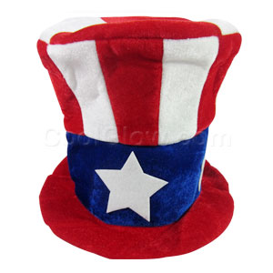 Patriotic Fabric Top Hat