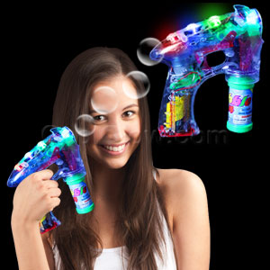 LED Bubble Gun - 7 Inch