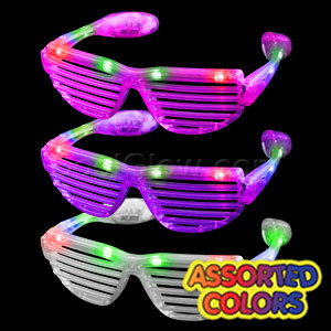 LED Stunner Shutter Slotted Shades - Assorted