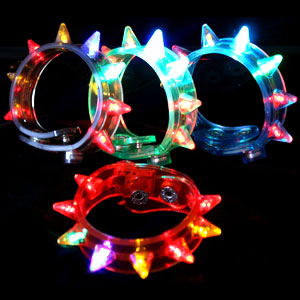 Fun Central I533 LED Light Up Spike Bracelets - Assorted