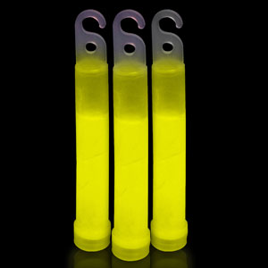 6 Inch Premium Glow Sticks - Yellow