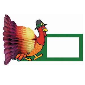 Turkey and Honeycomb Place Cards- 4ct