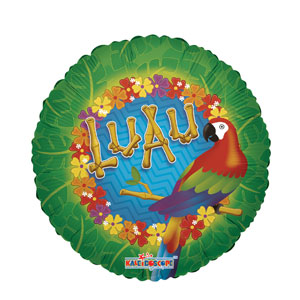 Luau Parrot Balloon- 18in