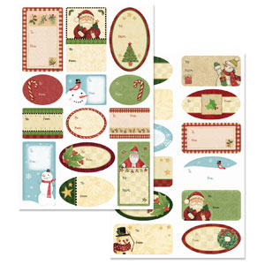 Country Kraft Adhesive Gift Tags- 100ct