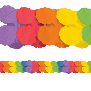 Rainbow Paper Garland- 12ft