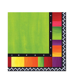 Fiesta Stripes Dinner Napkins- 16ct