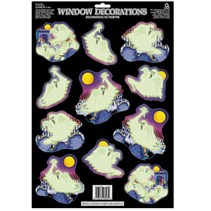 Glow-In-The-Dark Ghouls Window Decorations- 11ct