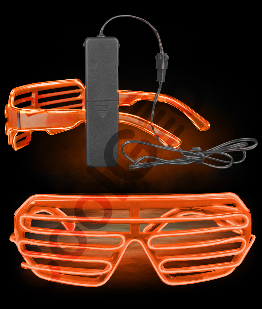 EL Slotted Shades- Orange